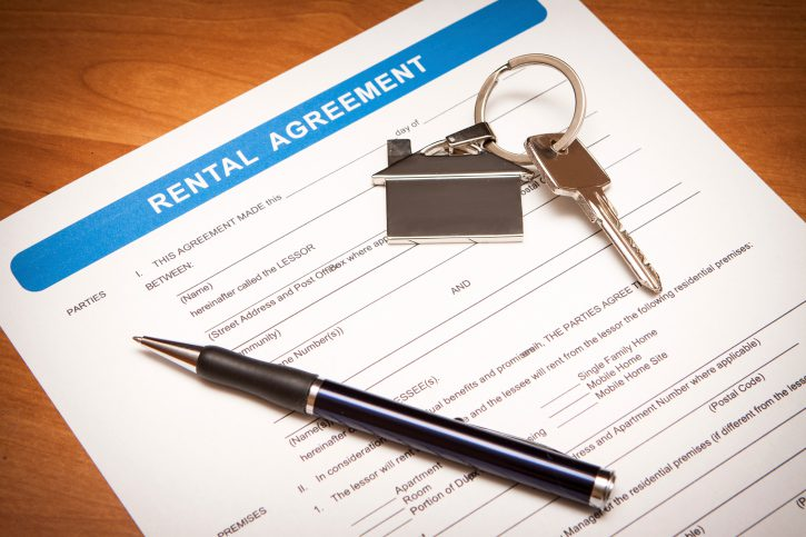 rental agreement paperwork