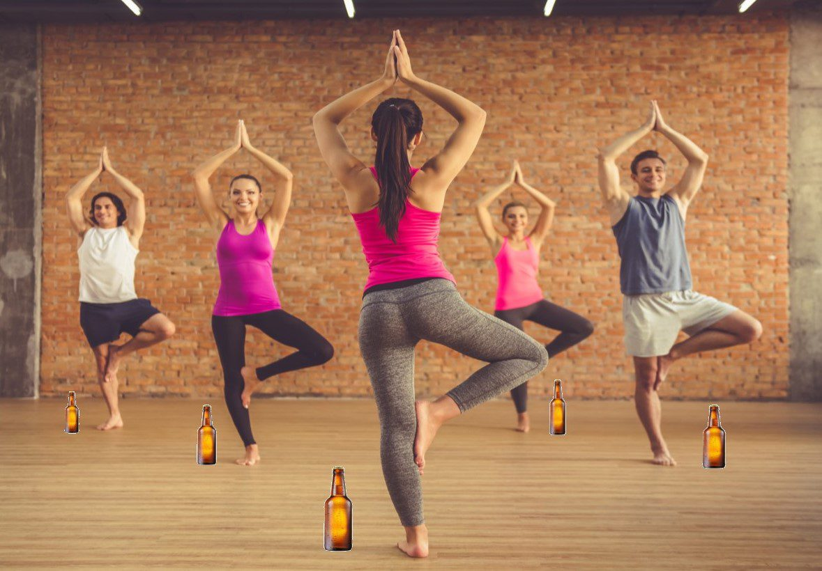 People holding tree pose