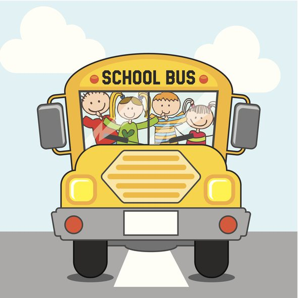 Animated School Bus Bel Aire Terrace