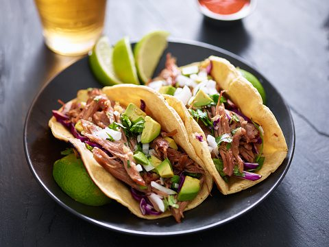 Two small street tacos