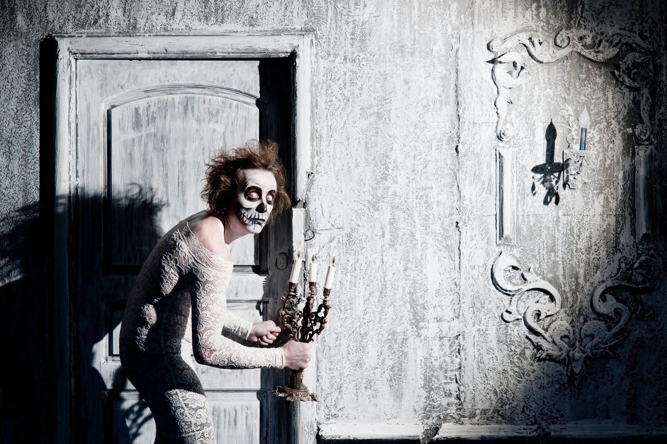 Spooky guy at the door