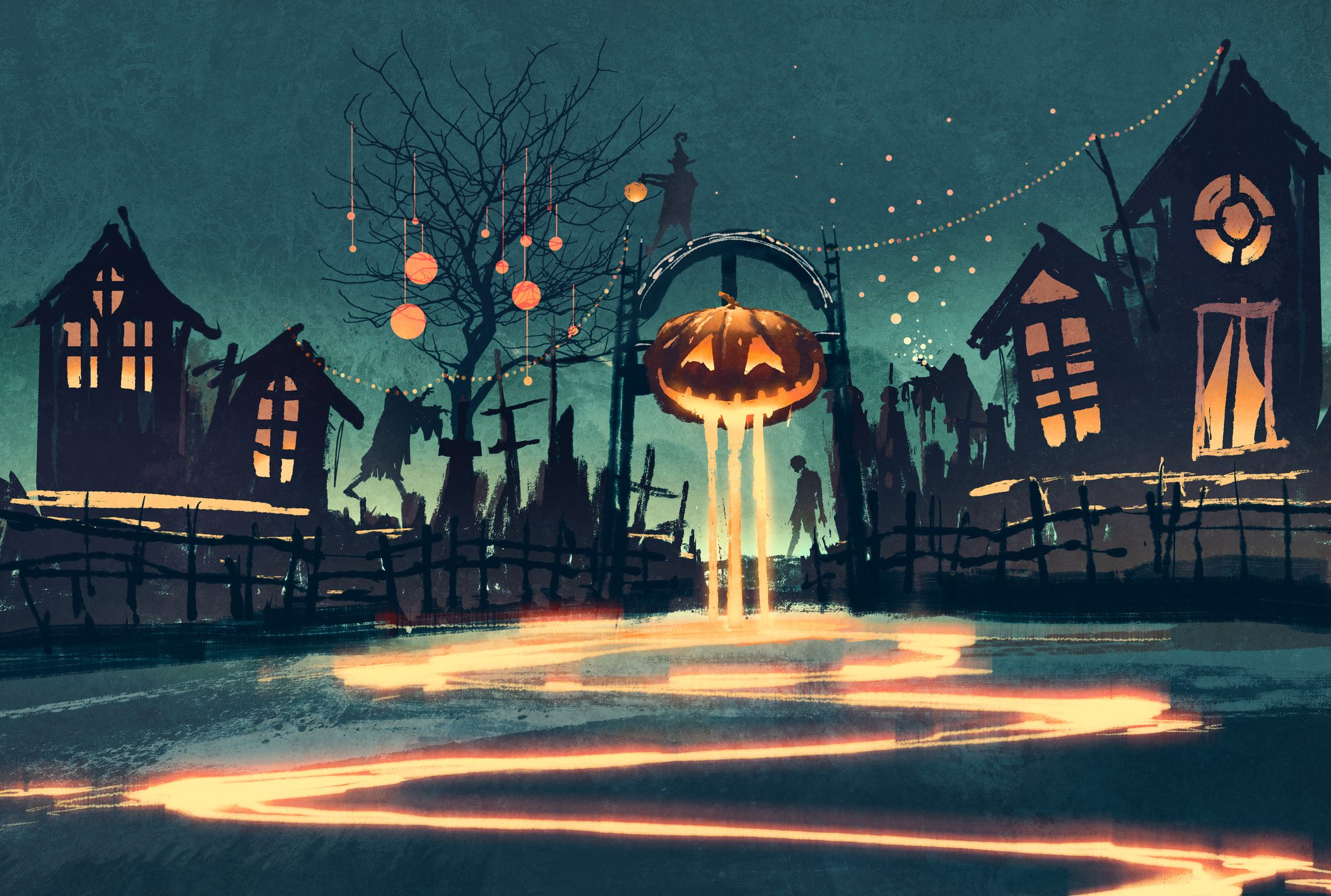 Animated Halloween town