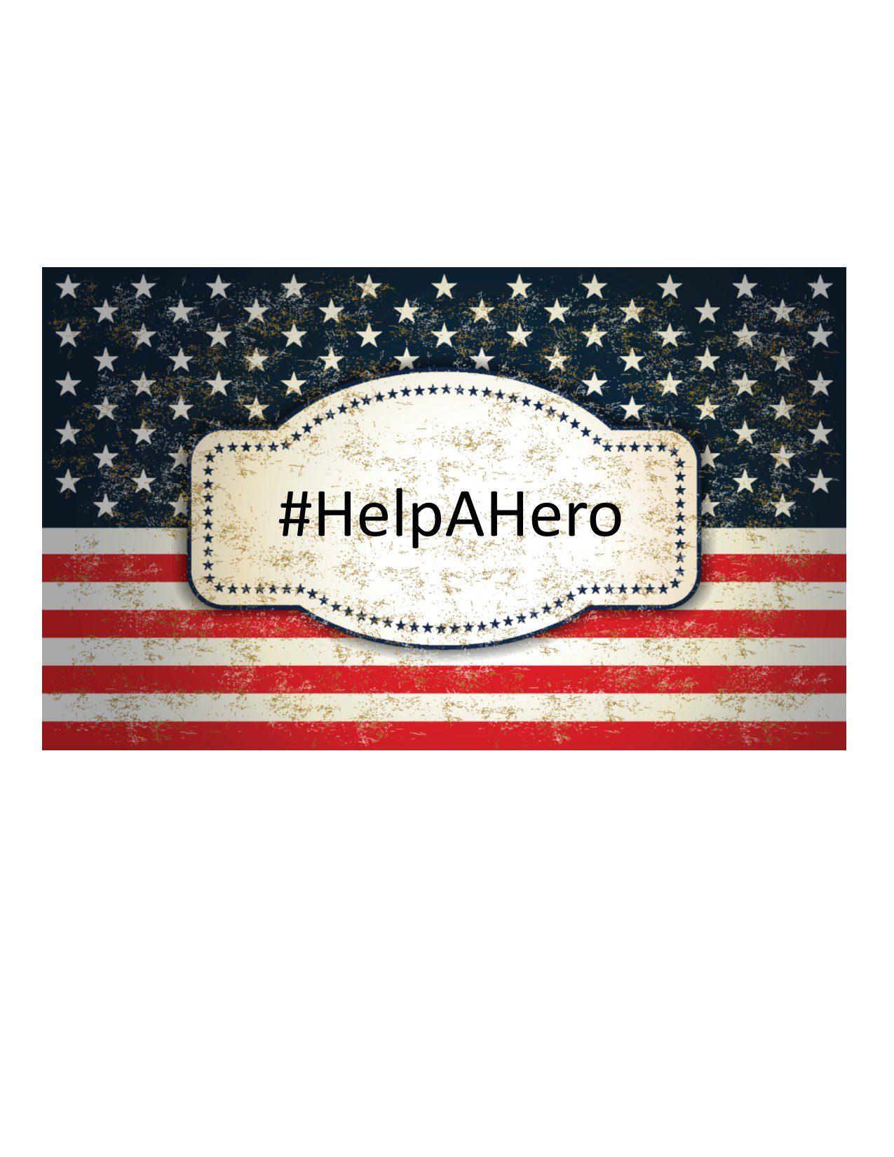 Help a hero banner