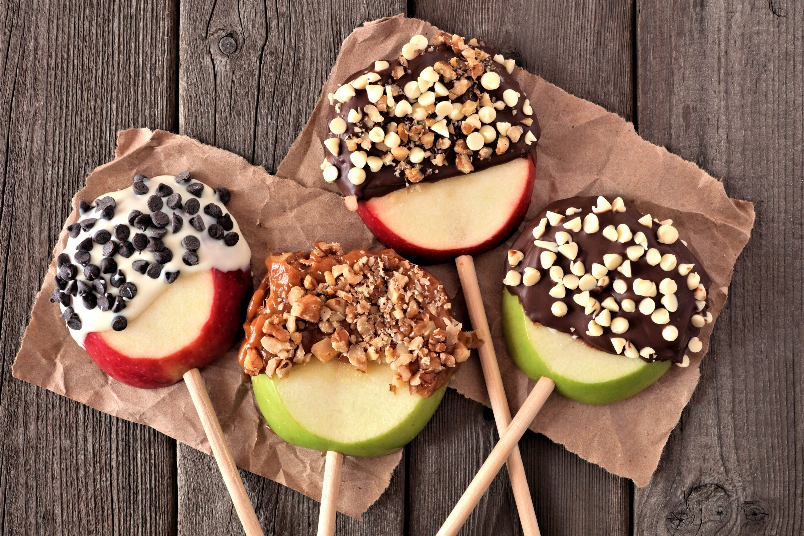 Chocolate dipped apples