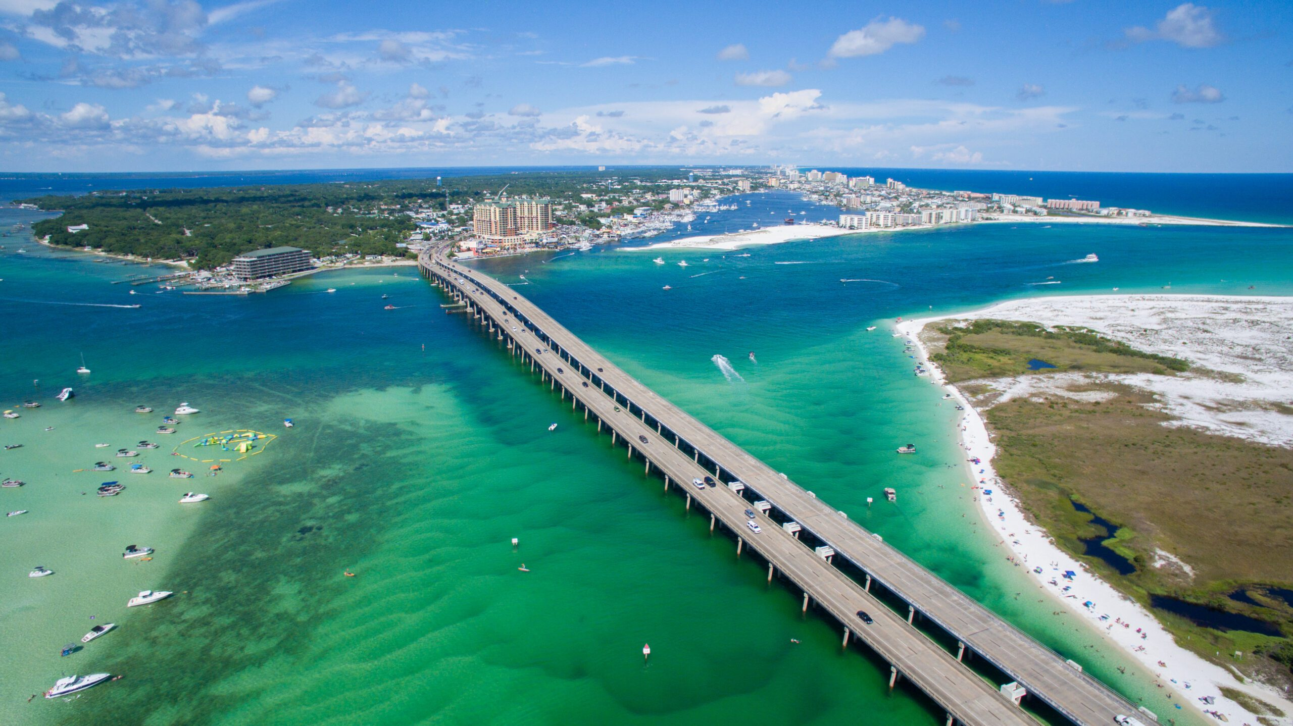 Destin bridge over water on the Emerald Coast
