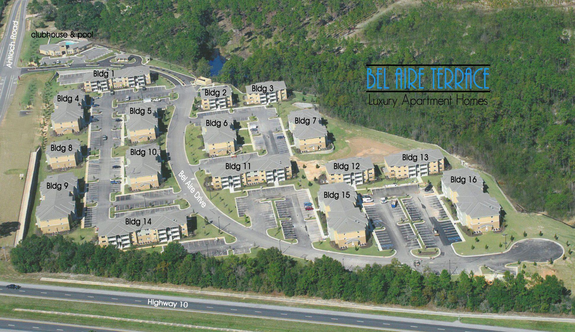 Bel Aire Terrace Site Map
