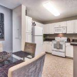 Bel Aire Terrace one bedroom kitchen model