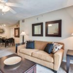 Bel Aire Terrace model living room