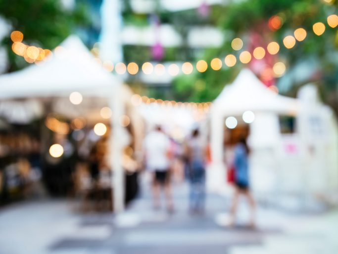 blurred festival