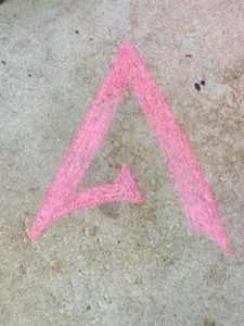 Atlas Martial Arts Chalk Logo