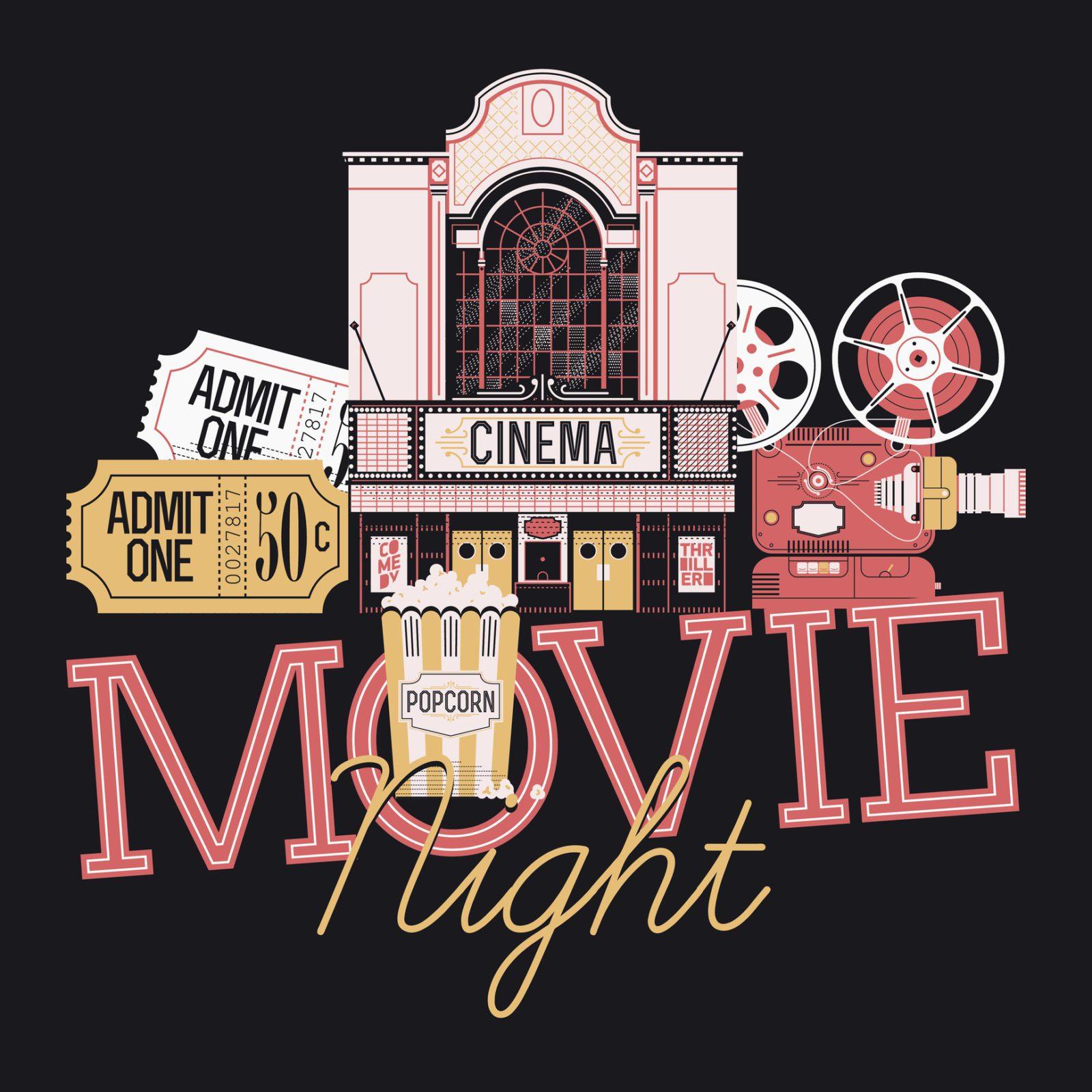 Movie night graphic